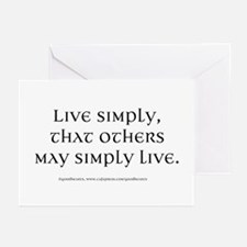 Live Simply Greeting Cards (Pk of 20)