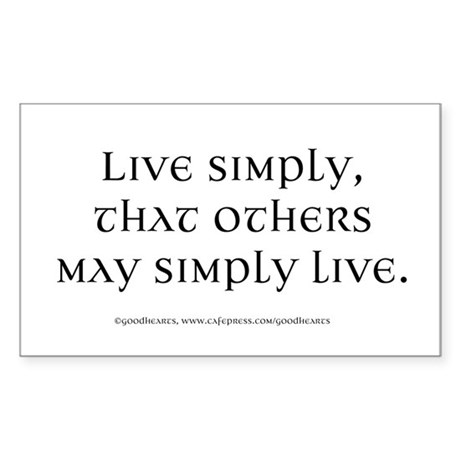 Live Simply Rectangle Sticker