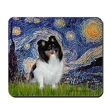 Starry Night / Sheltie (t) Mousepad