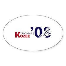 Thomas J. Kozee 08 Oval Decal
