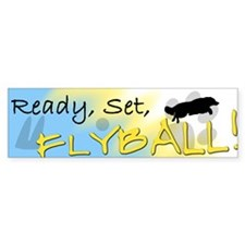 Ready Set Flyball Bumper Bumper Sticker