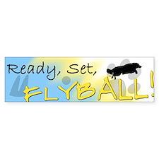 Ready Set Flyball Bumper Bumper Sticker