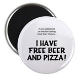 Free Beer And Pizza Magnet