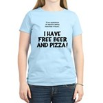 Free Beer And Pizza Women's Light T-Shirt