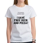 Free Beer And Pizza Women's T-Shirt