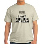 Free Beer And Pizza Light T-Shirt