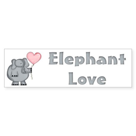Elephant Love Bumper Sticker
