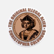 "christopher columbus 3.5"" Button"