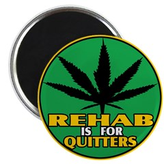 "Rehab is for Quitters 2.25"" Magnet (100 pack)"