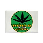 Rehab is for Quitters Rectangle Magnet (100 pack)