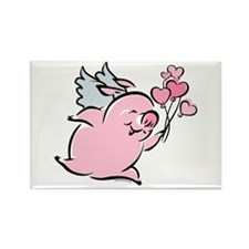 Valentine Pig Rectangle Magnet