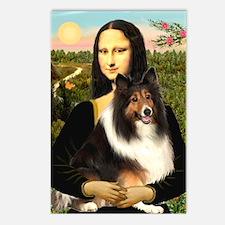 Mona Lisa / Sheltie (s&w) Postcards (Package of 8)