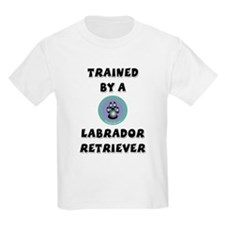 Trained by a Lab Kids T-Shirt