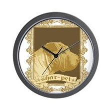 Shar Pei Dog Stamp Wall Clock