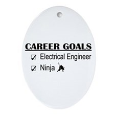 EE Career Goals Oval Ornament