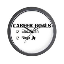 Electrician Career Goals Wall Clock