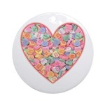 Conversation Valentine Heart Ornament (Round)