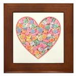 Conversation Valentine Heart Framed Tile