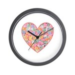 Conversation Valentine Heart Wall Clock