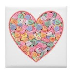 Conversation Valentine Heart Tile Coaster