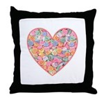Conversation Valentine Heart Throw Pillow