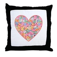 Conversation Valentine Heart Throw Pillow
