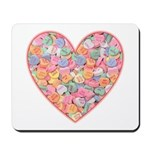 Conversation Valentine Heart Mousepad