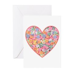 Conversation Valentine Heart Greeting Cards (Pk of