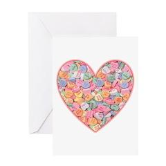 Conversation Valentine Heart Greeting Card