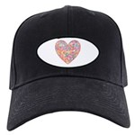 Conversation Valentine Heart Black Cap