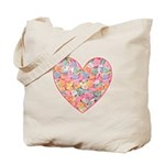 Conversation Valentine Heart Tote Bag