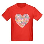 Conversation Valentine Heart Kids Dark T-Shirt