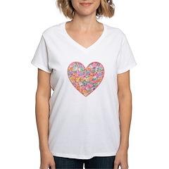 Conversation Valentine Heart Shirt