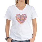 Conversation Valentine Heart Women's V-Neck T-Shir