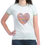 Conversation Valentine Heart Jr. Ringer T-Shirt