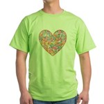 Conversation Valentine Heart Green T-Shirt