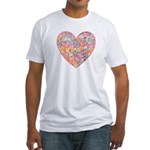 Conversation Valentine Heart Fitted T-Shirt