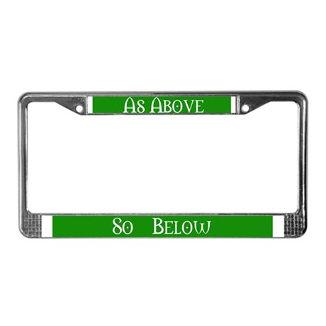 As Above (Pagan/Wiccan License Plate Frame)