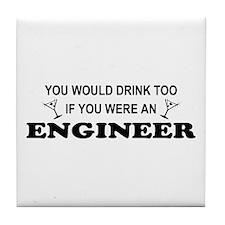Engineer Career Goals Tile Coaster