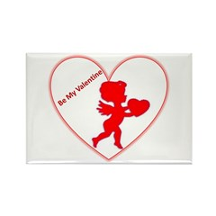 Be My Valentine Cupid Rectangle Magnet (10 pack)