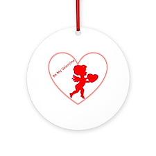 Be My Valentine Cupid Ornament (Round)