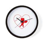Be My Valentine Cupid Wall Clock
