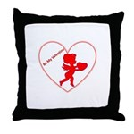 Be My Valentine Cupid Throw Pillow