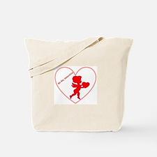 Be My Valentine Cupid Tote Bag