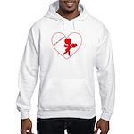 Be My Valentine Cupid Hooded Sweatshirt