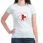 Be My Valentine Cupid Jr. Ringer T-Shirt