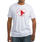 Be My Valentine Cupid Fitted T-Shirt