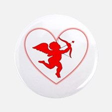 "Cupis's Arrow Valentine 3.5"" Button"