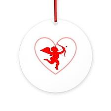 Cupis's Arrow Valentine Ornament (Round)