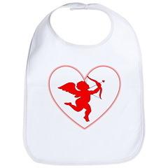 Cupis's Arrow Valentine Bib